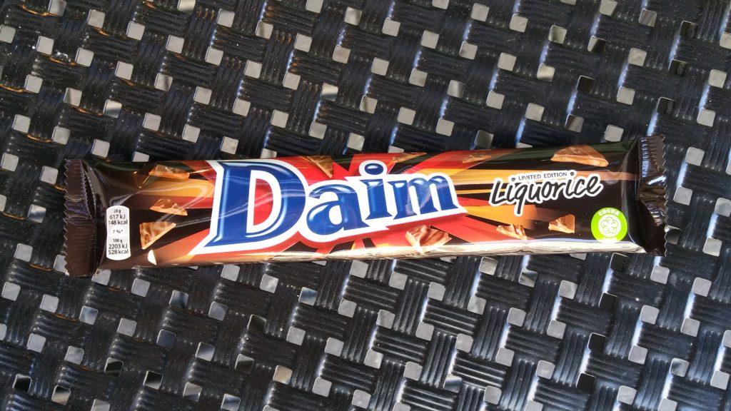 Daim Liquorice, klassisk Daim-bar med lakritssmak